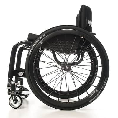 RGK Tiga ADL rolstoel, zij aanzicht open model